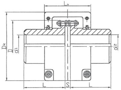 KC型滚子链条联轴器